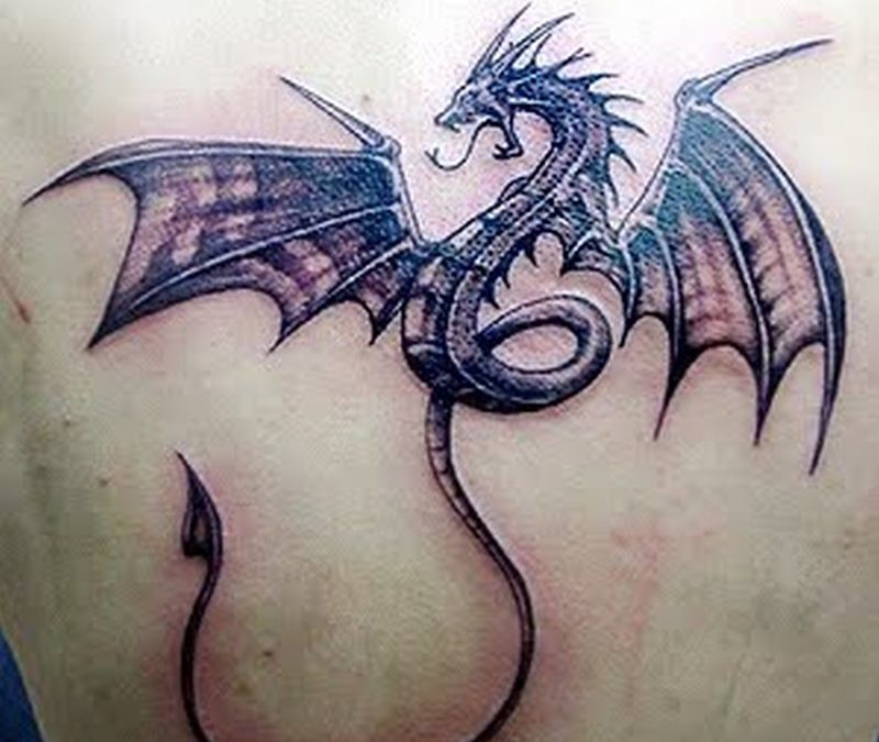 Dragonfly animated tattoo