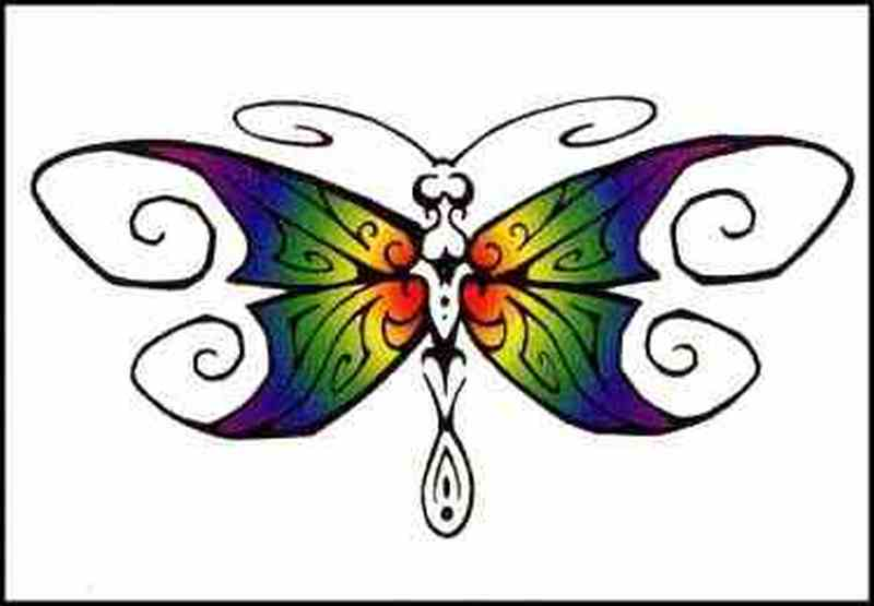 Dragonfly butterfly tattoo picture