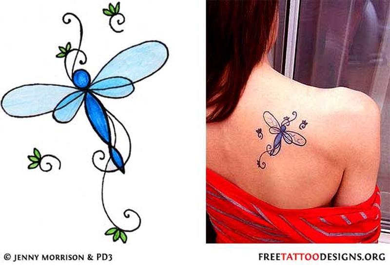 Что означает татуировка стрекоза на ноге