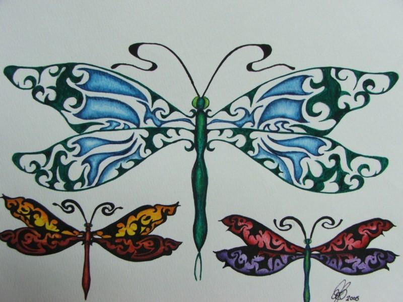 Dragonfly tattoo designs 2