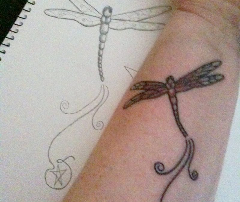 Dragonfly tattoo for wrist