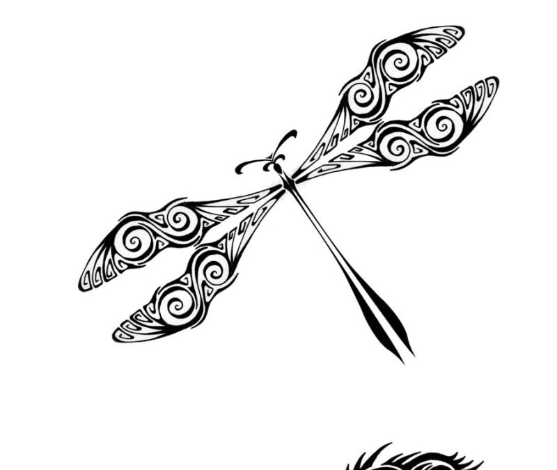 Dragonfly tattoo samples 2