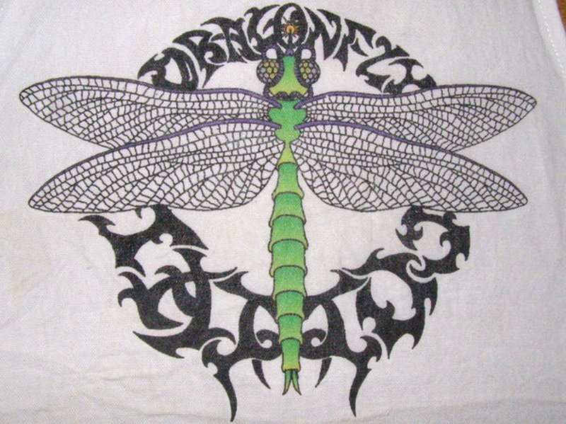 Dragonfly tattoo textile