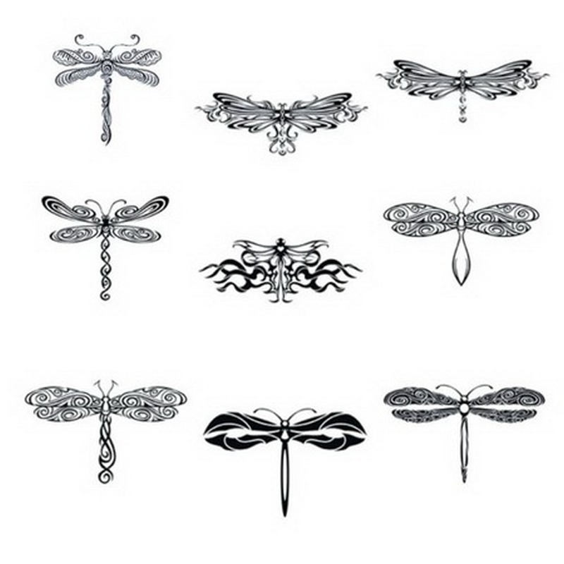 Dragonfly tribal tattoo collection