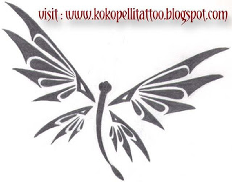 Dragonfly tribal tattoo design