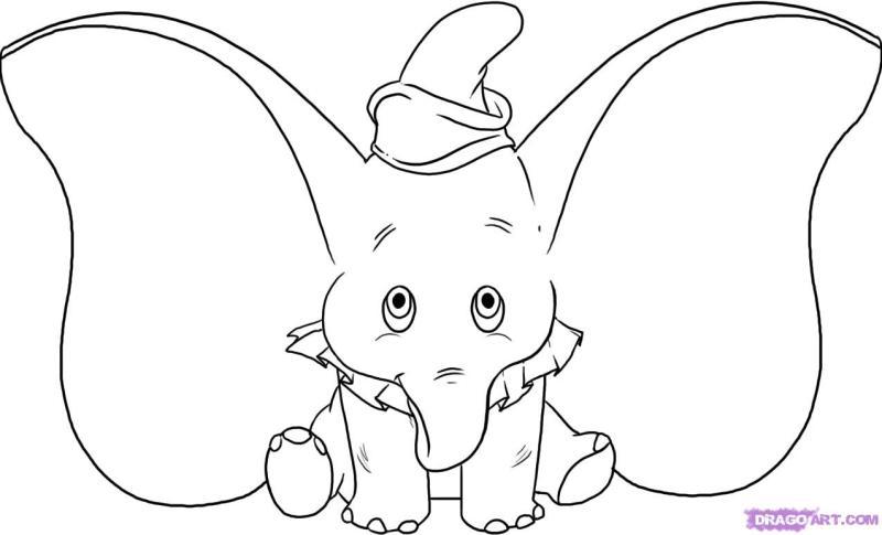Dumbo the elephant tattoo sample