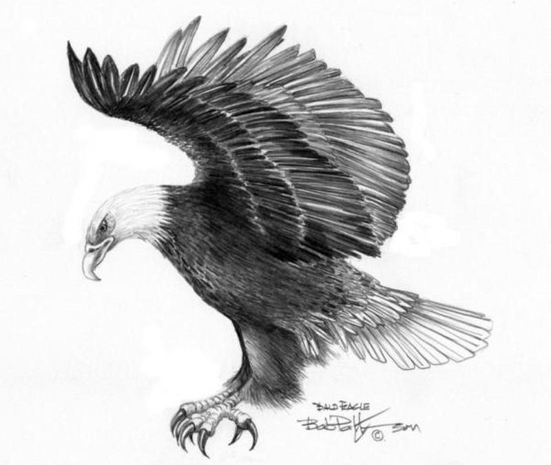 Eagle attacking tattoo design