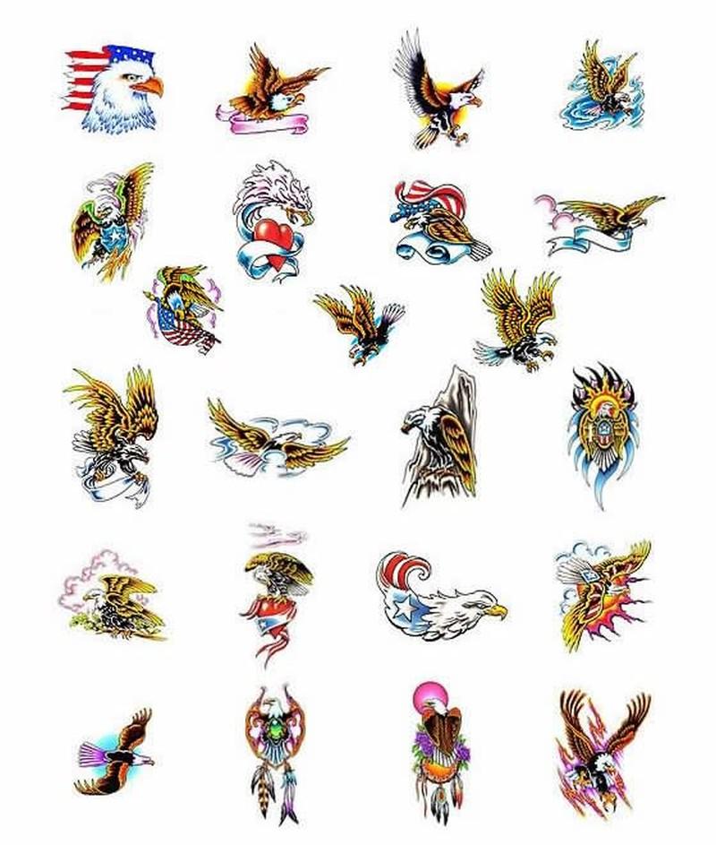 Eagle designs for body art tattoo