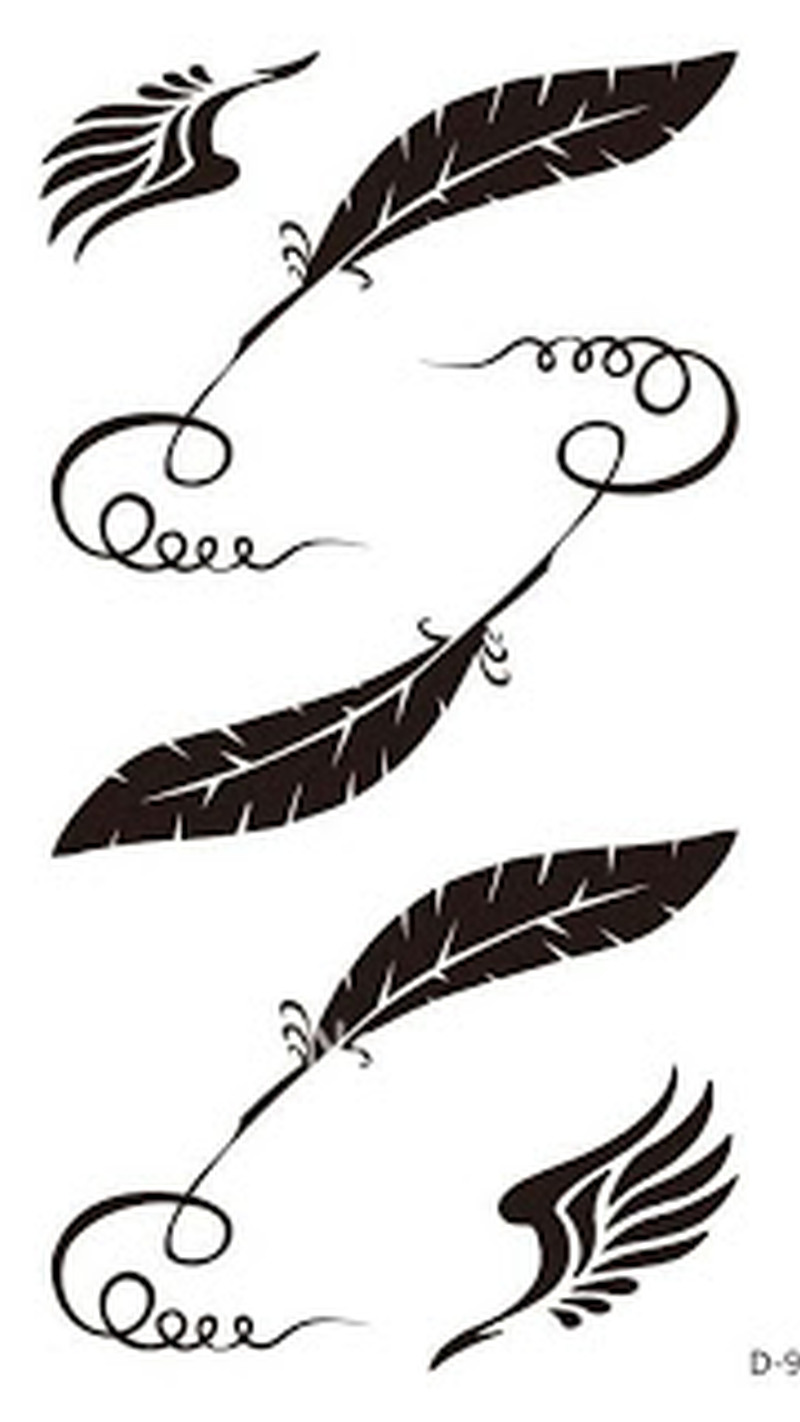 Eagle feather tattoo design 2