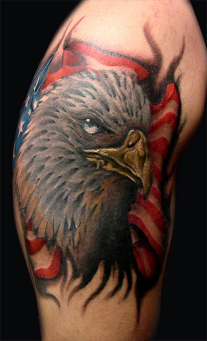 eagle head n us flag tattoo design tattoos book tattoos designs. Black Bedroom Furniture Sets. Home Design Ideas