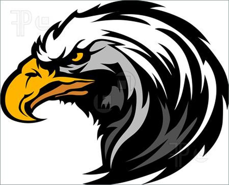 Eagle mascot tattoo design