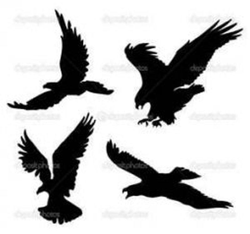 Eagle silhouette tattoo designs