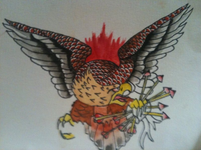 Eagle tattoo flash