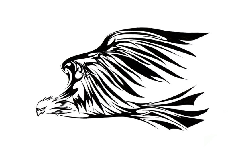 Eagle tribal tattoo design 3