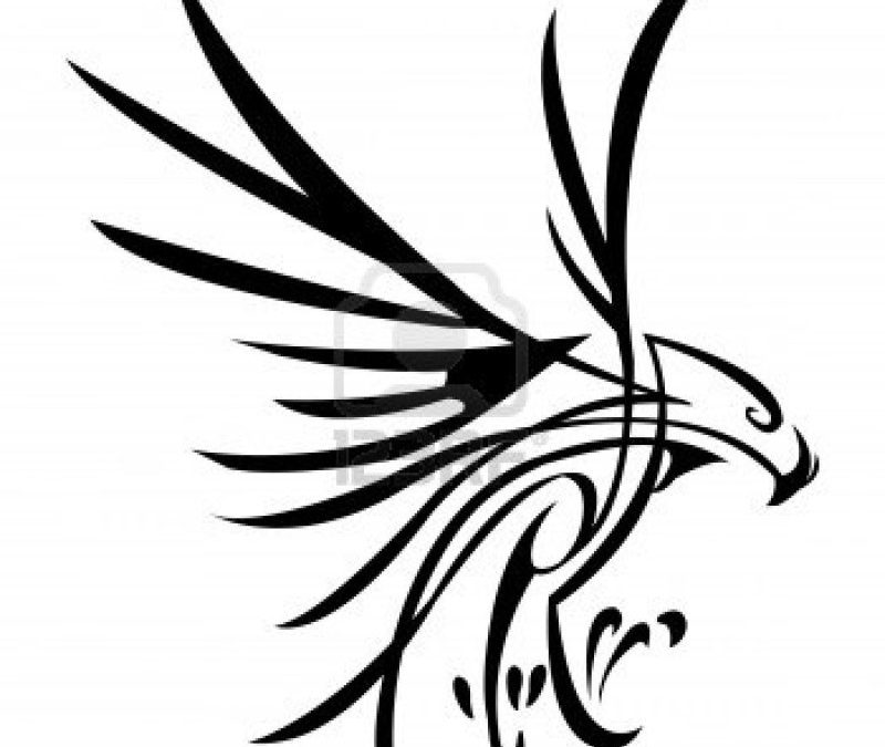 Eagle tribal tattoo sample