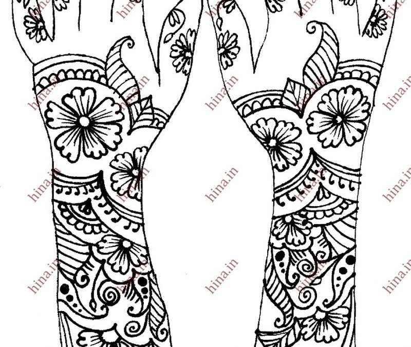 Easy henna tattoo designs