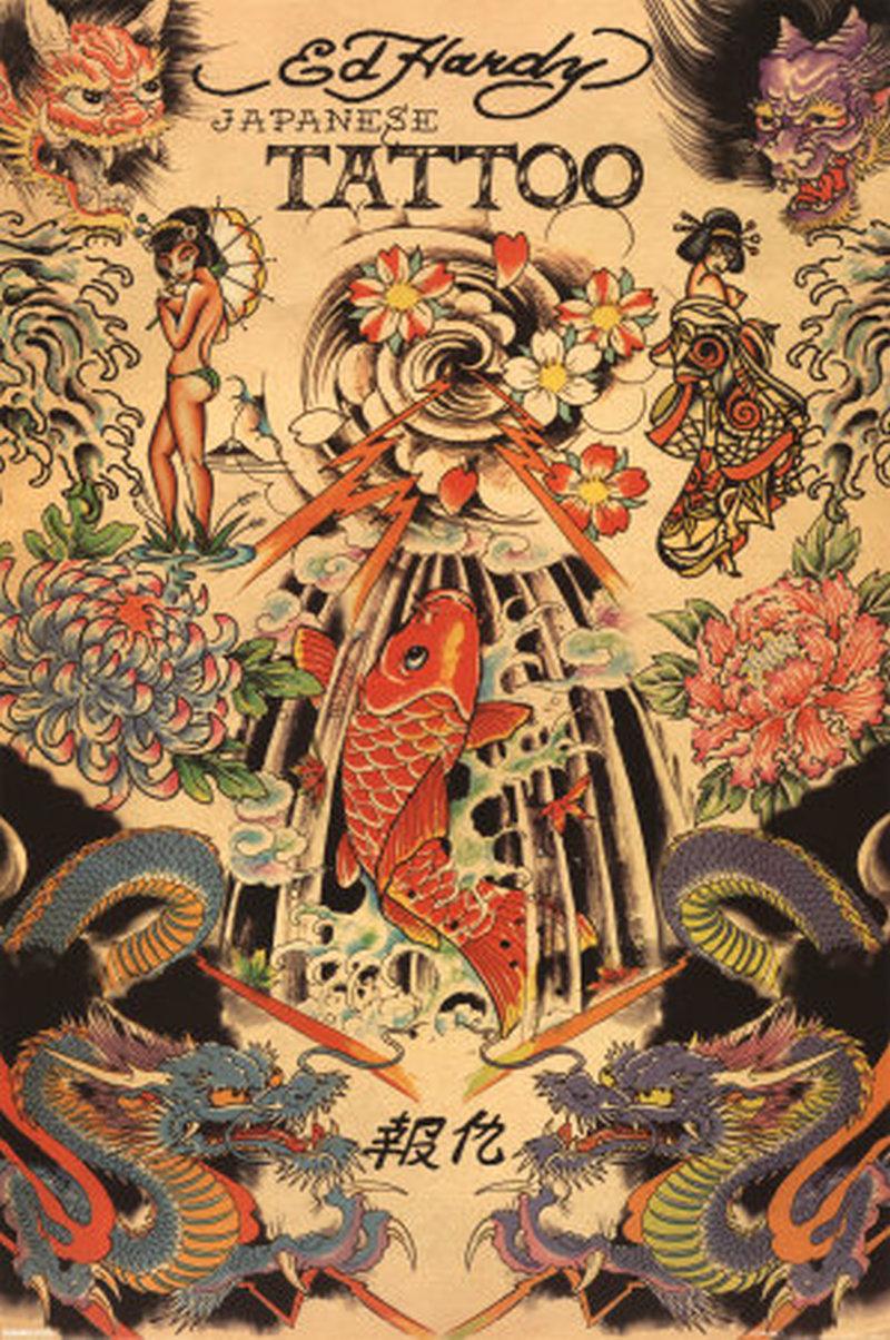 Ed hardy japanese tattoo design