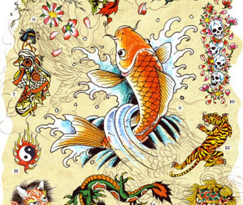 Ed hardy japanese tattoo designs