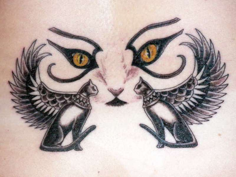 Egyptian cat tattoo designs
