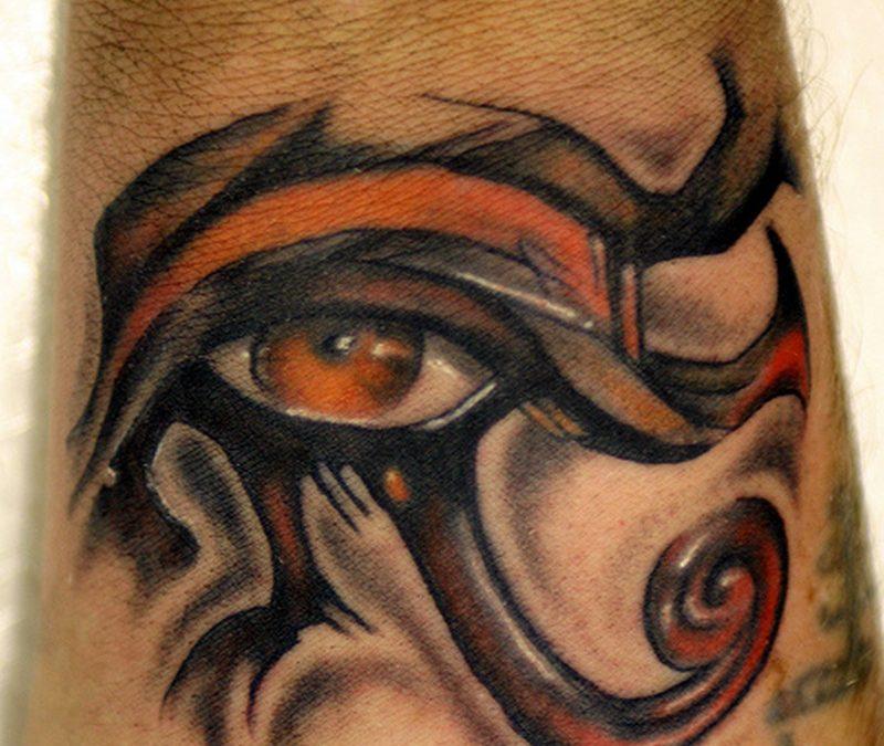 Egyptian eye tattoo design