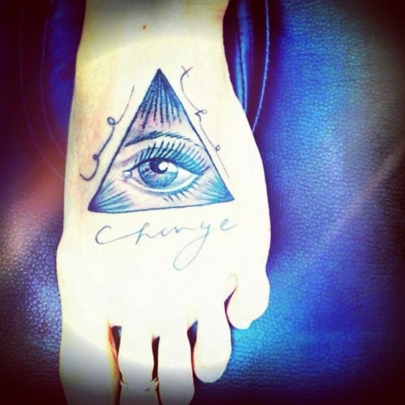 da827fb85a2a0 Egyptian eye tattoo on foot - Tattoos Book - 65.000 Tattoos Designs