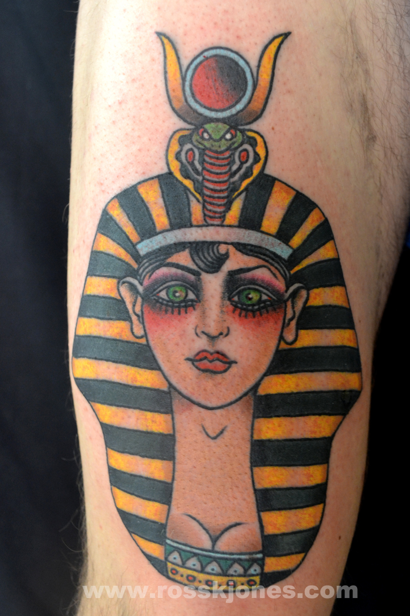 Egyptian girl tattoo design