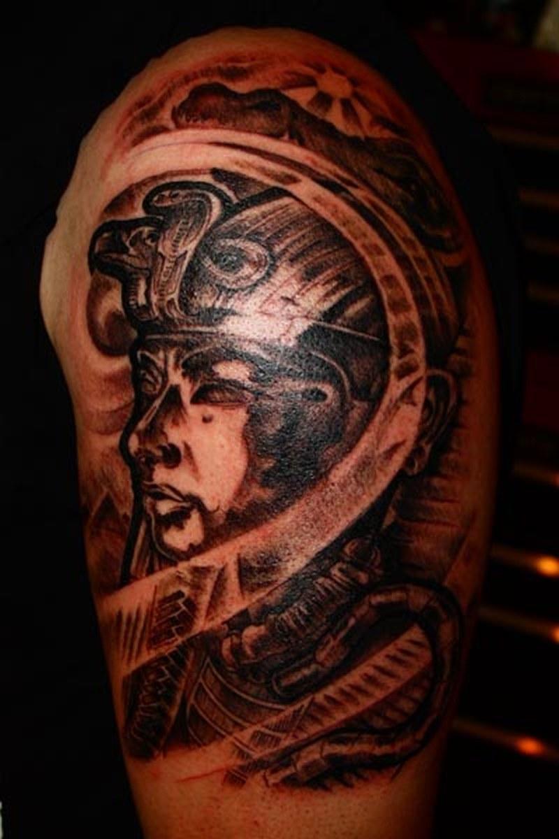 Egyptian Symbol Tattoo Design On Half Sleeve Tattoos Book 65000