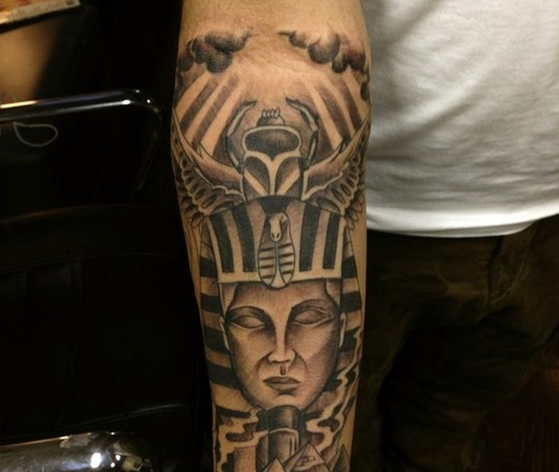 Egyptian tattoo on forearm 2