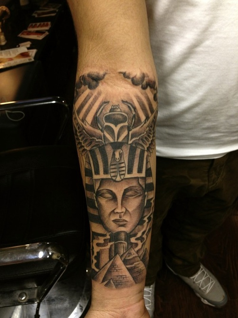 Egyptian tattoo on forearm 2