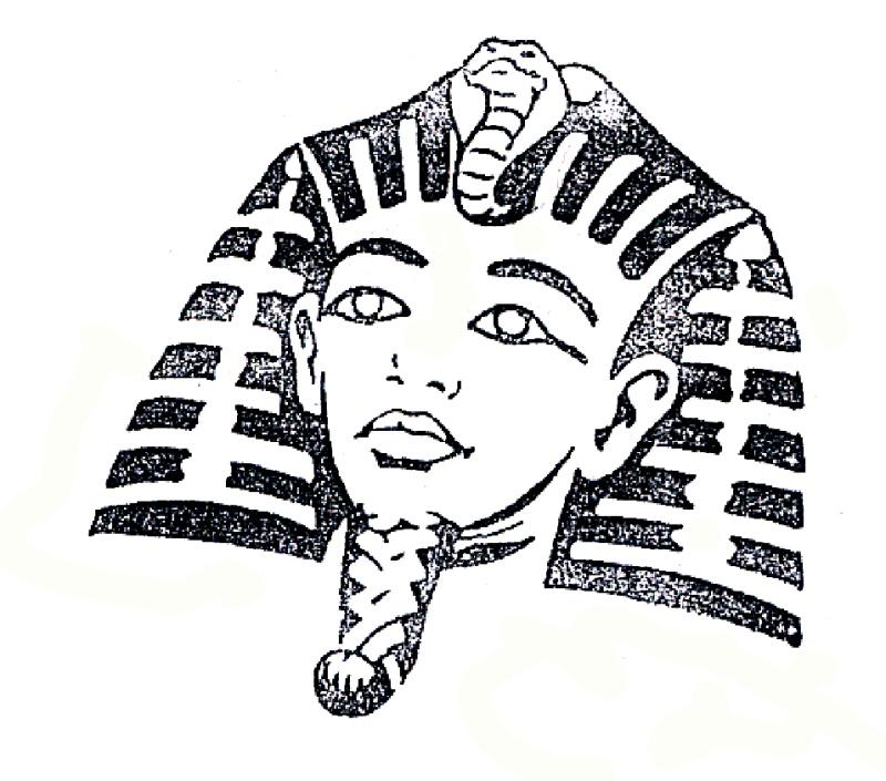 Egyptian tattoo pattern