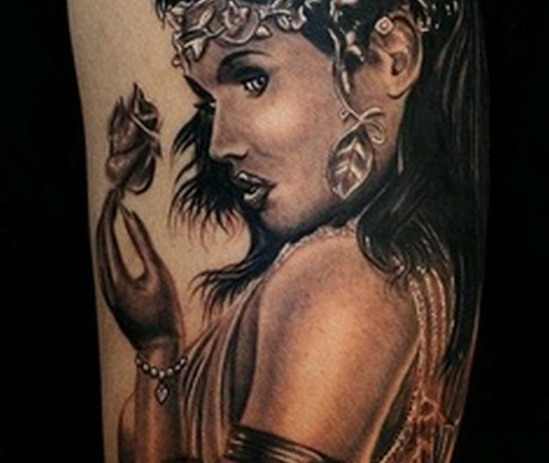 Egyptian woman tattoo design 2