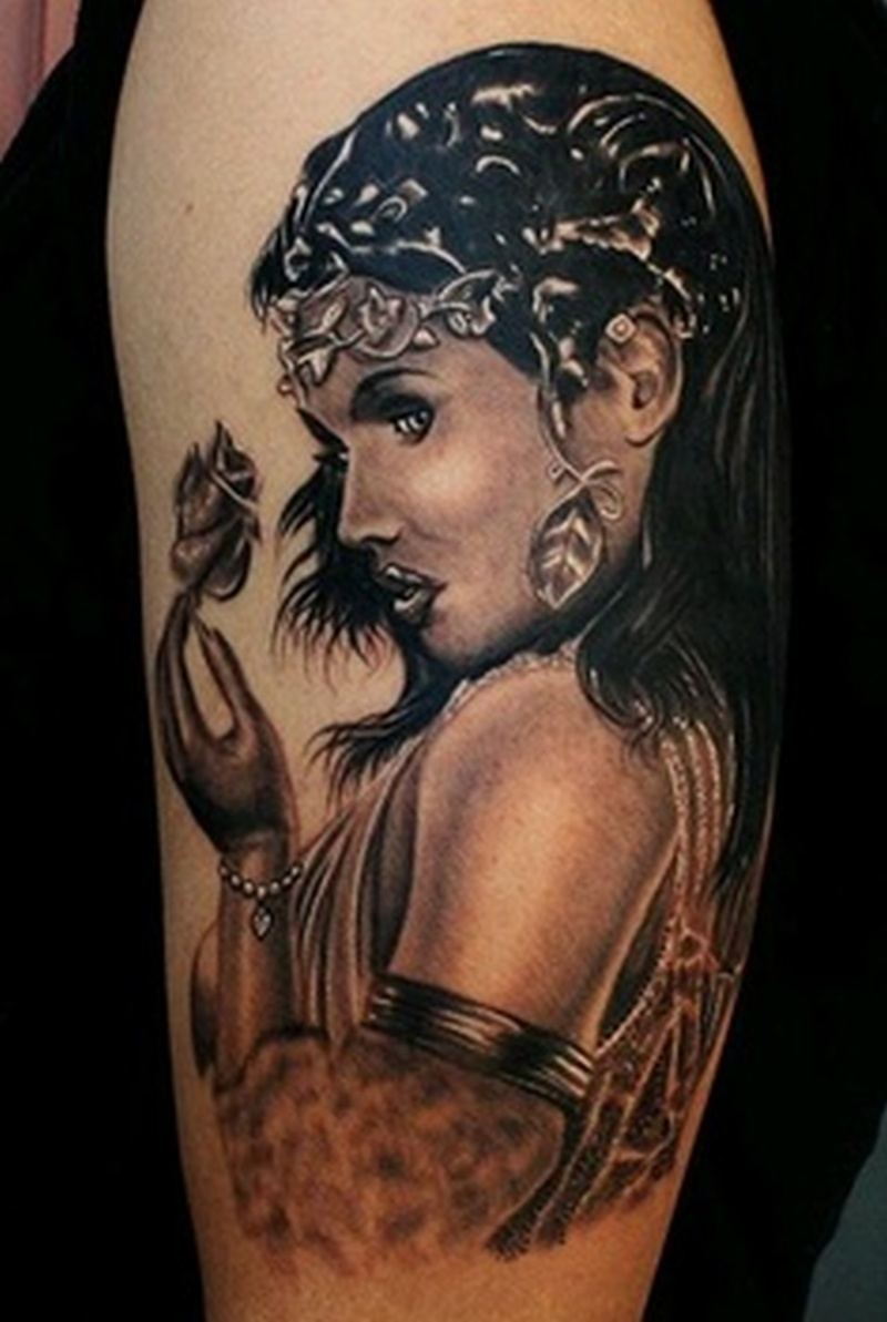 Egyptian woman tattoo design 2