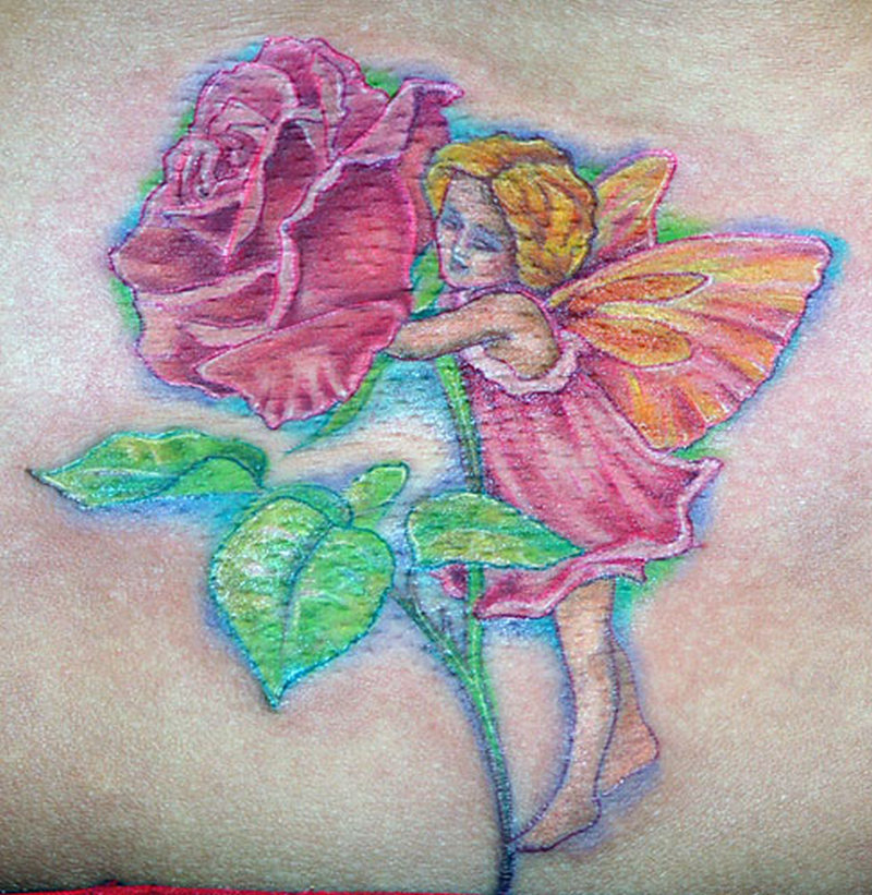 Elegant fantasy tattoo picture