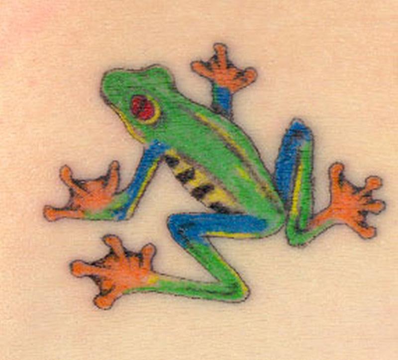 Elegant frog tattoo picture
