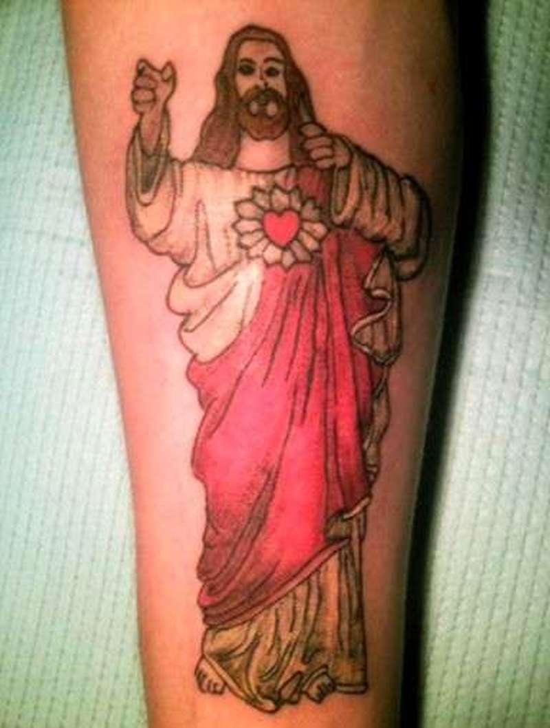 Elegant jesus tattoo design