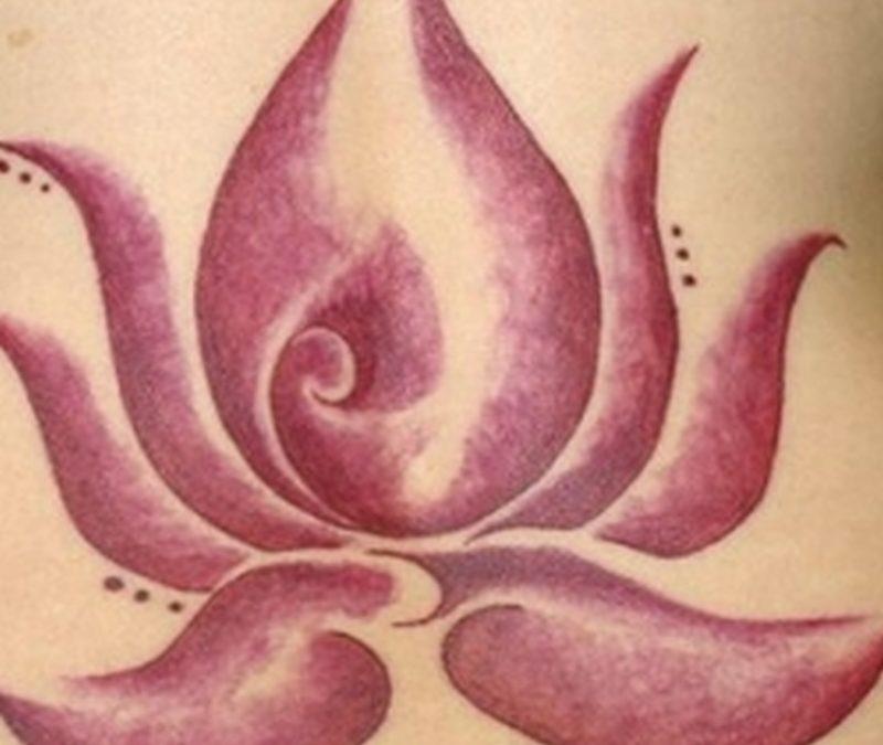 Elegant lotus flower tattoo design