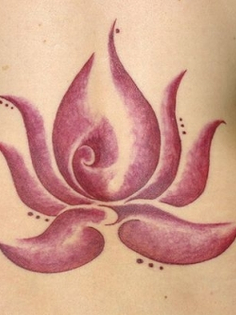 Elegant lotus flower tattoo design
