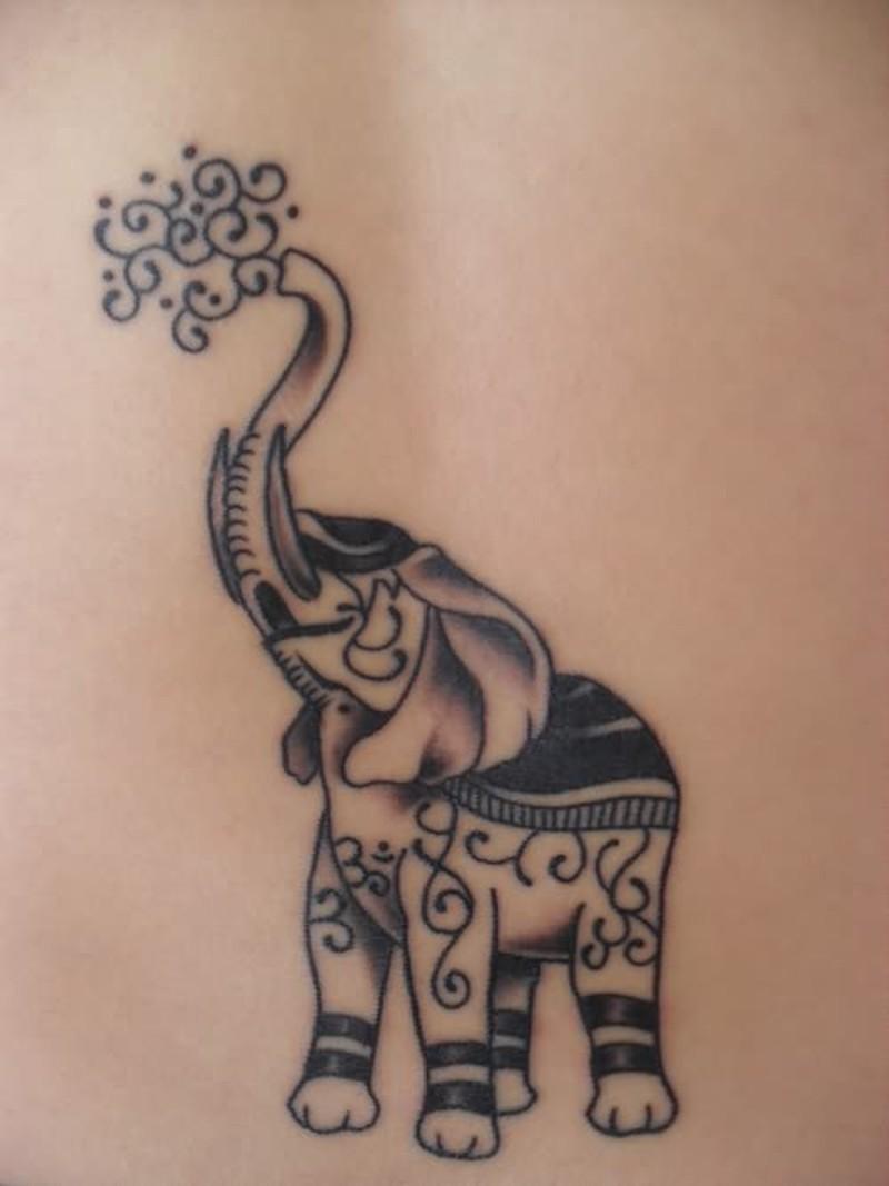 Elephant anonymous tattoo