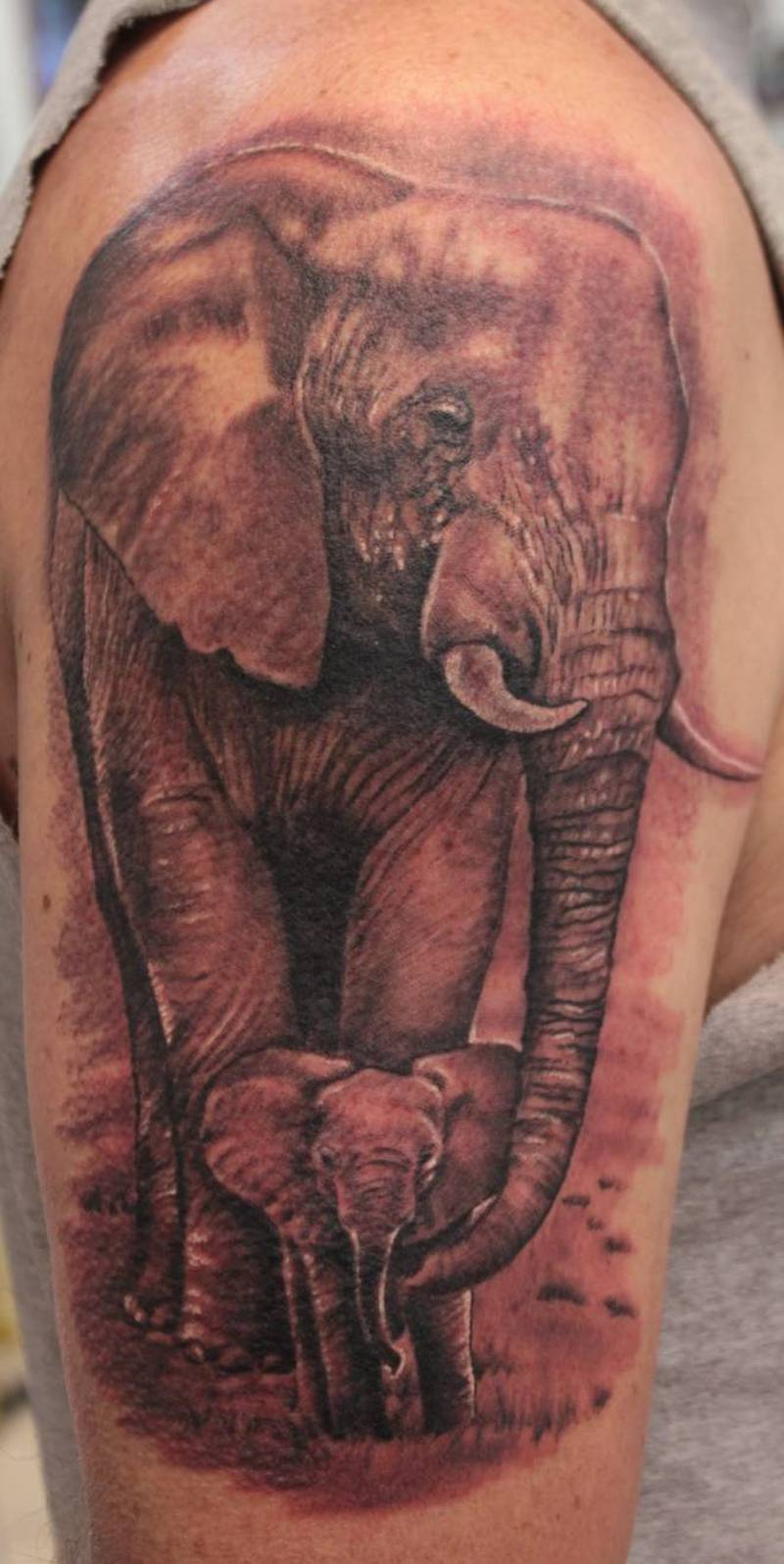Elephant baby design tattoo tattoos book for Baby s first tattoo book