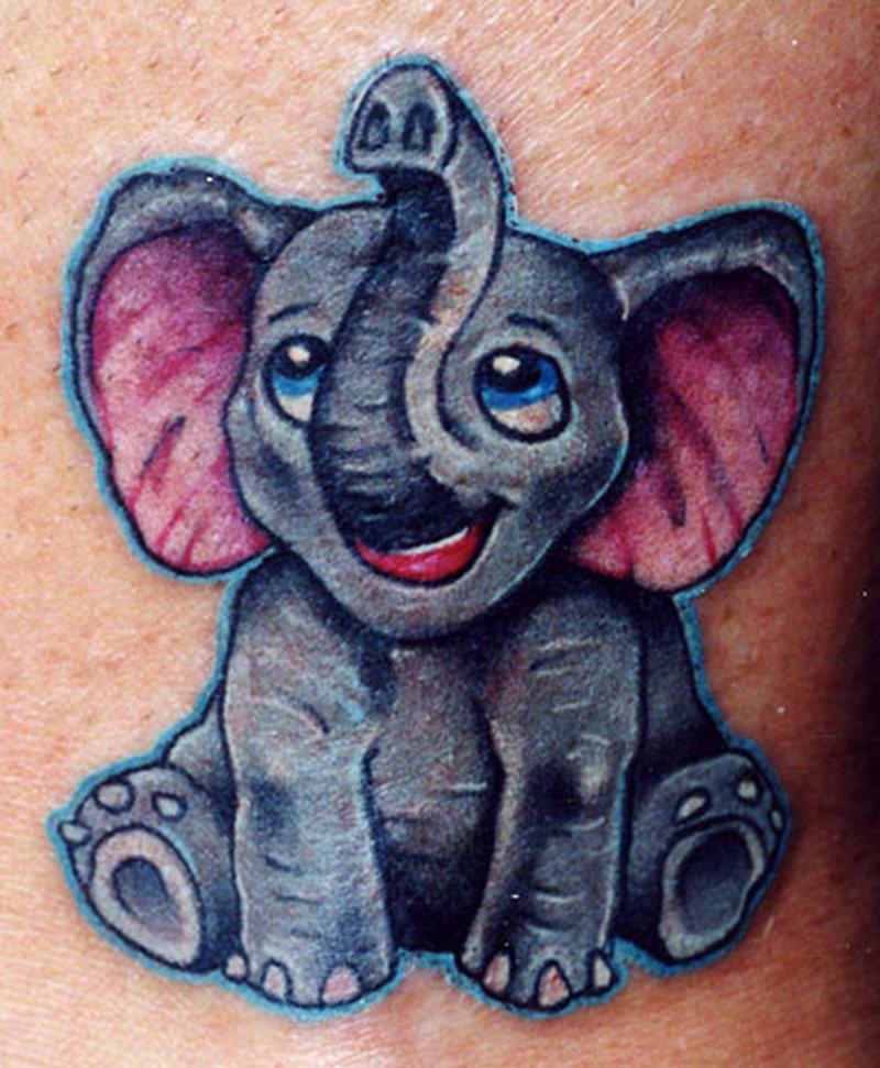 Elephant baby tattoo design 2