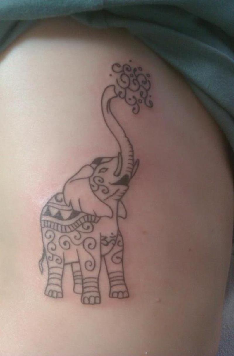Elephant rib cage tattoo design