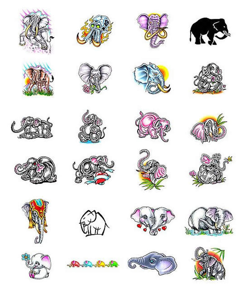 Elephant Tattoo Collection Tattoos Book 65 000 Tattoos Designs