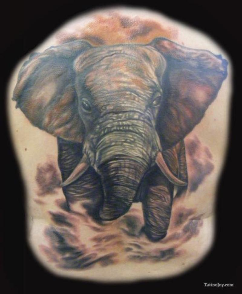 Elephant tattoo picture 2