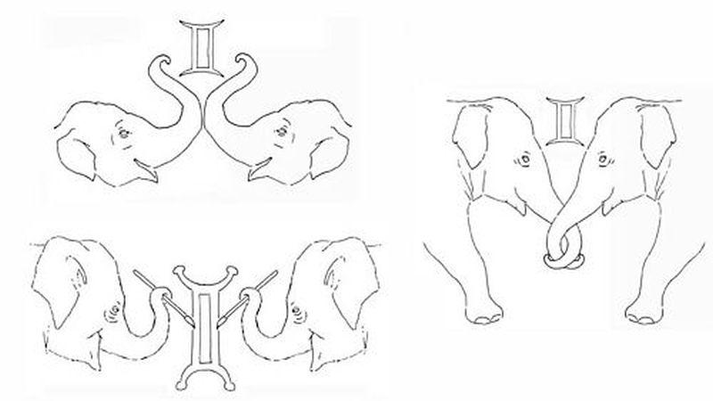 Elephant tattoo samples 3