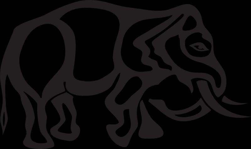 Elephant tattoo stencil
