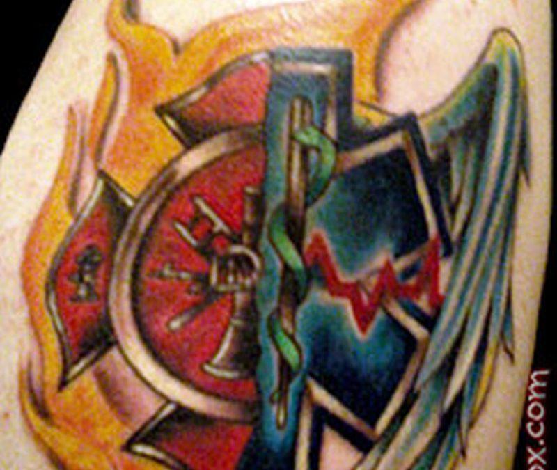 Ems firefighter tattoo design