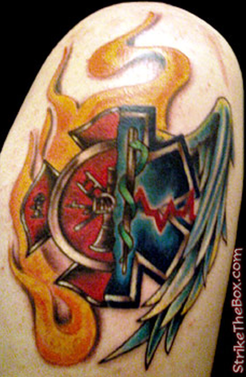 ems firefighter tattoo design tattoos book