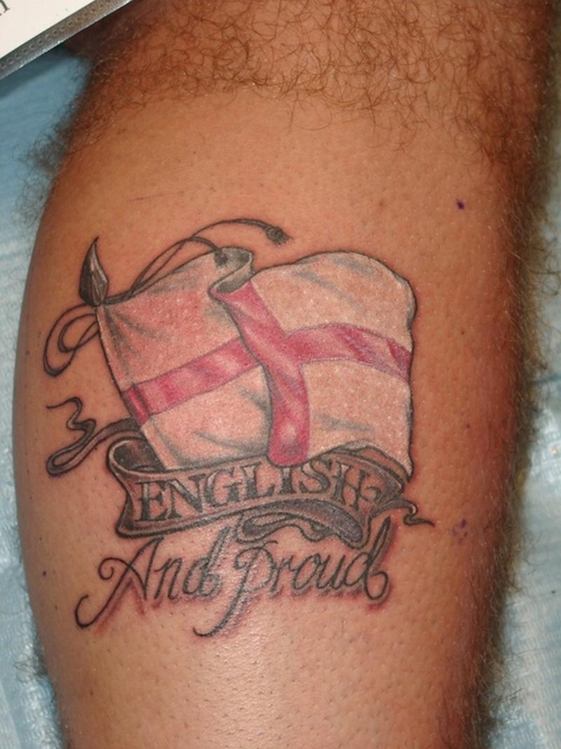 English flag tattoo design