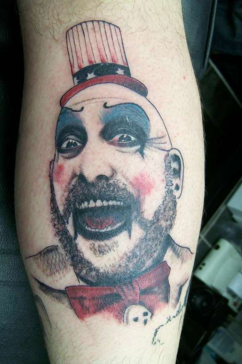evil clown portrait tattoo design tattoos book. Black Bedroom Furniture Sets. Home Design Ideas
