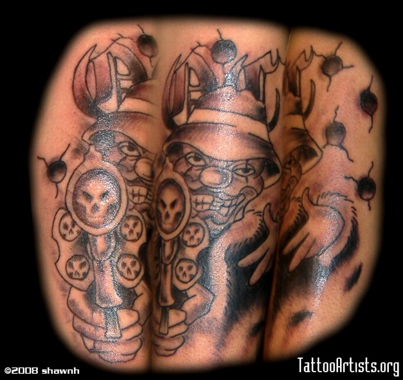 evil clown skull tattoo designs tattoos book tattoos designs. Black Bedroom Furniture Sets. Home Design Ideas